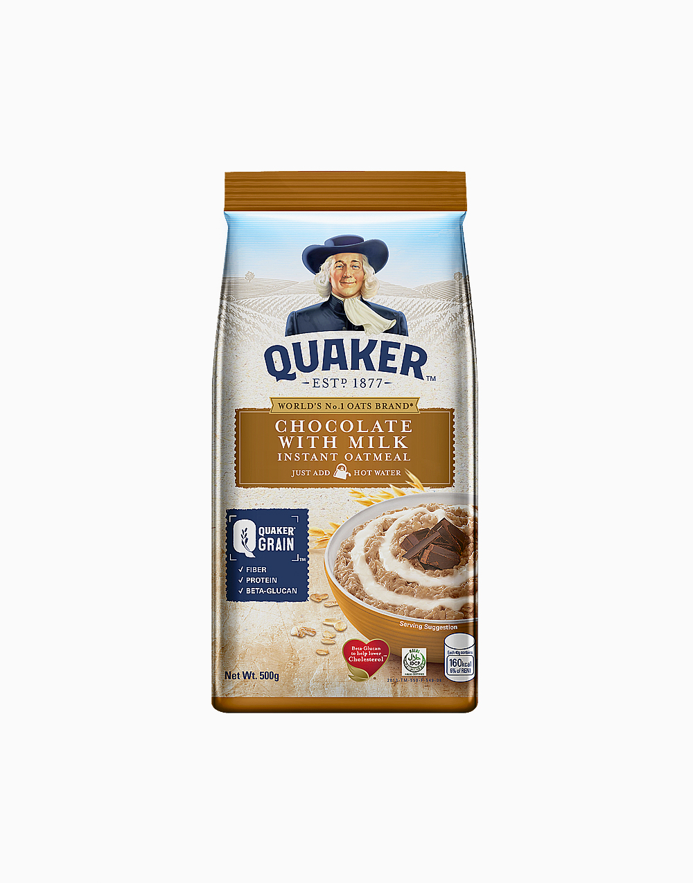 Flavored Oatmeal Chocolate with Milk (500g) by Quaker