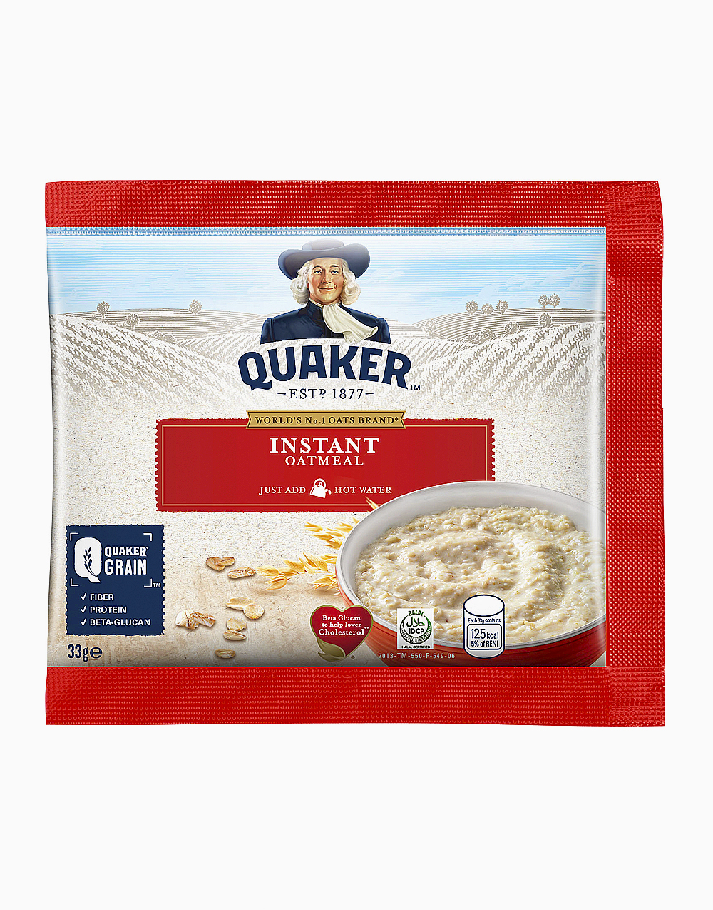 Instant Oatmeal (33g, Pack of 20) by Quaker