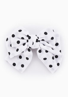 Audrey Polka Dots Bow Barrette by Chichii
