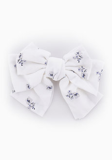 Skye Floral Bow Barrette by Chichii