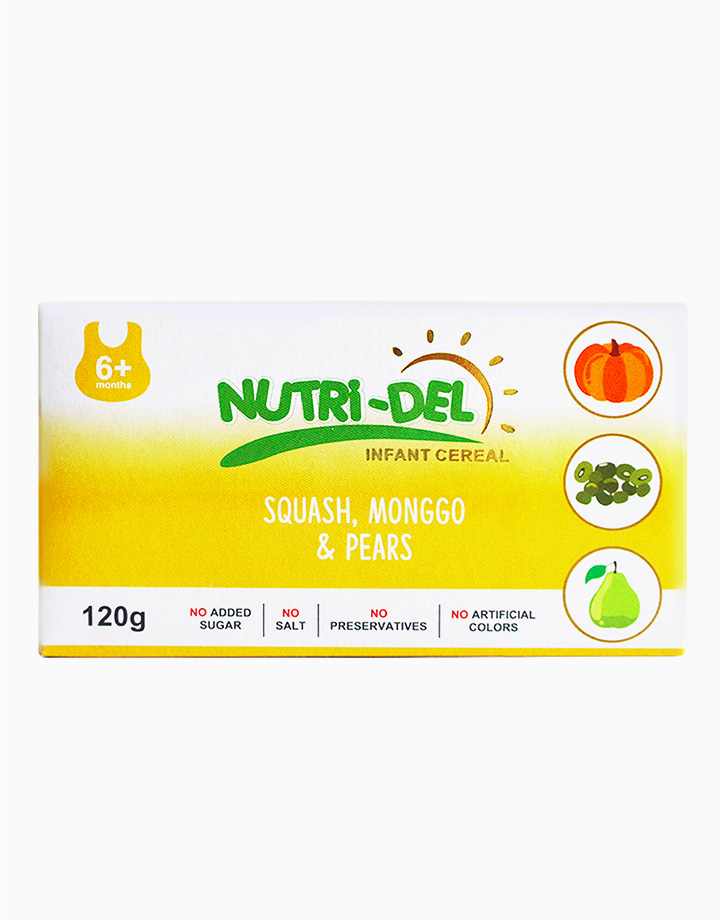 Squash, Monggo & Pears Infant Cereal (120g x 3) by Nutri-Del