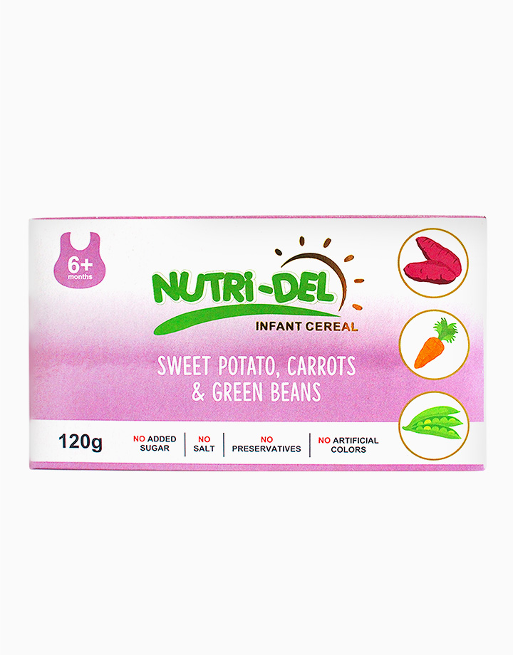 Sweet Potato, Carrots & Green Beans Infant Cereal (120g x 3) by Nutri-Del