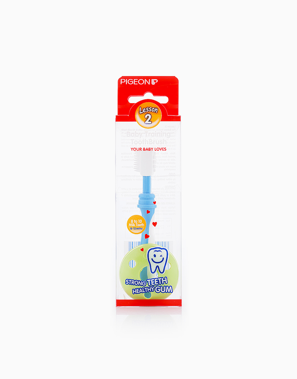 Baby Training Toothbrush Lesson 2 by Pigeon | Blue