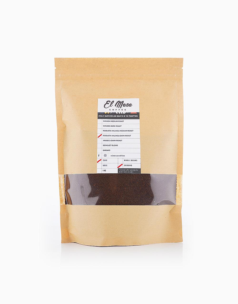 Robusta Kalinga Dark Roast Coffee Grounds by El Mesa Coffee