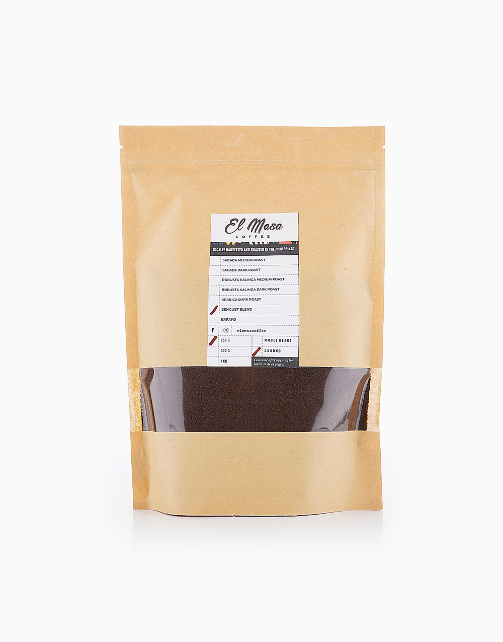 Benguet Blend Coffee Grounds by El Mesa Coffee