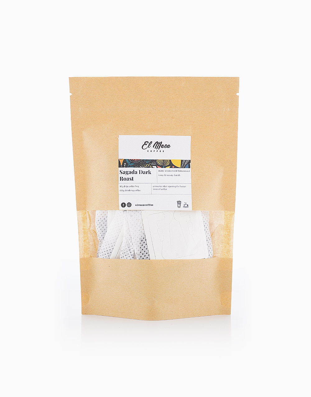 Sagada Dark Roast Coffee Drip Bag by El Mesa Coffee