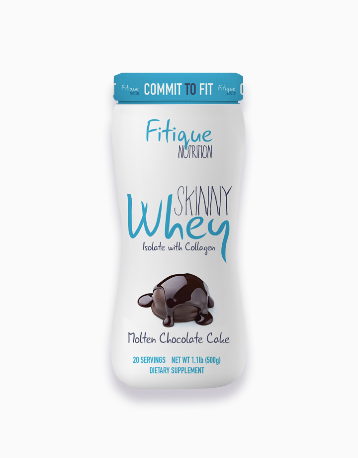 Skinny Whey Isolate With Collagen (Molten Chocolate Cake) by Fitique Nutrition