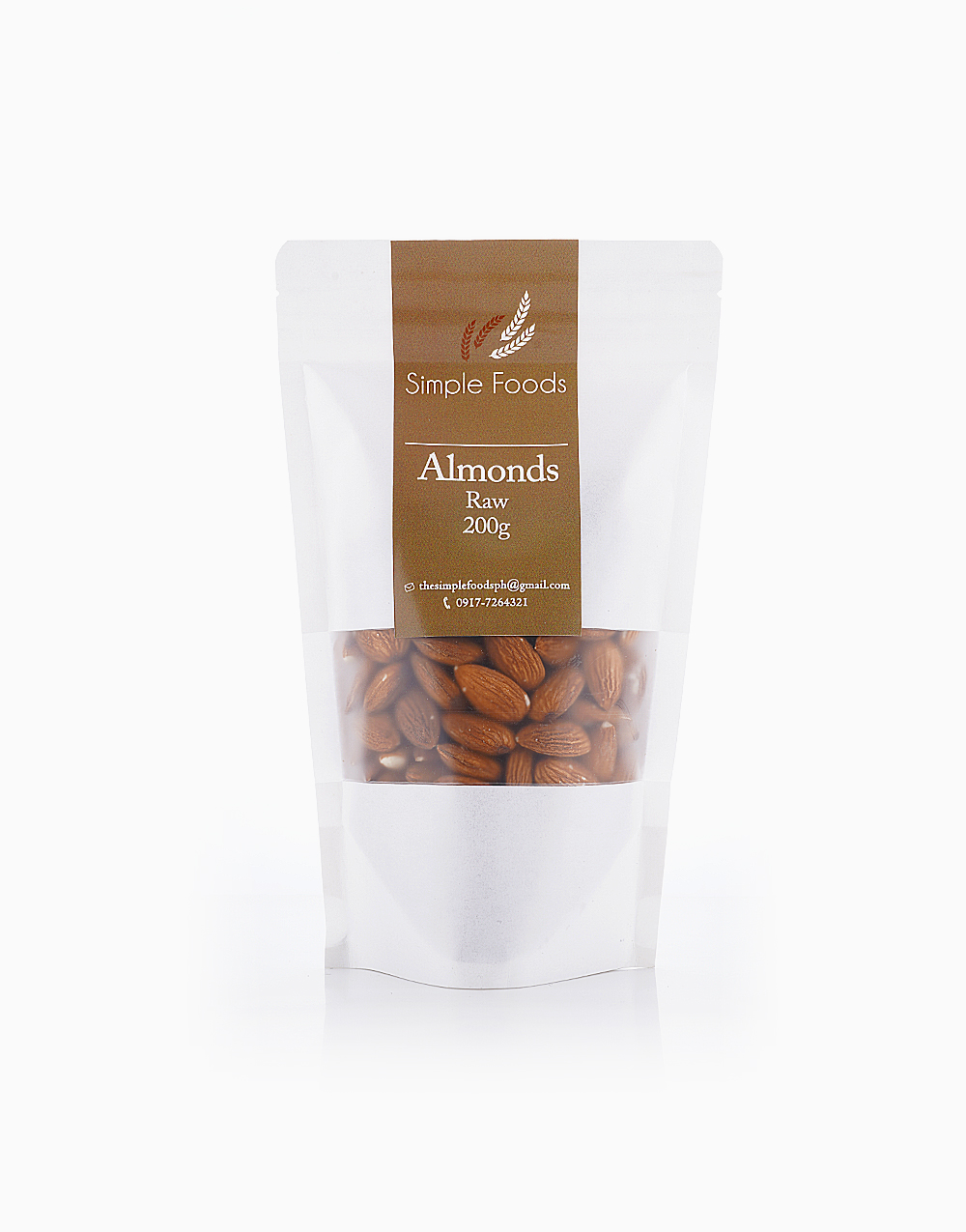 Raw Almonds (200g) by Simple Foods