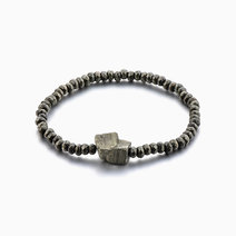 Infinite Abundance Pyrite Crystal Bracelet for Men by The Calm Chakra