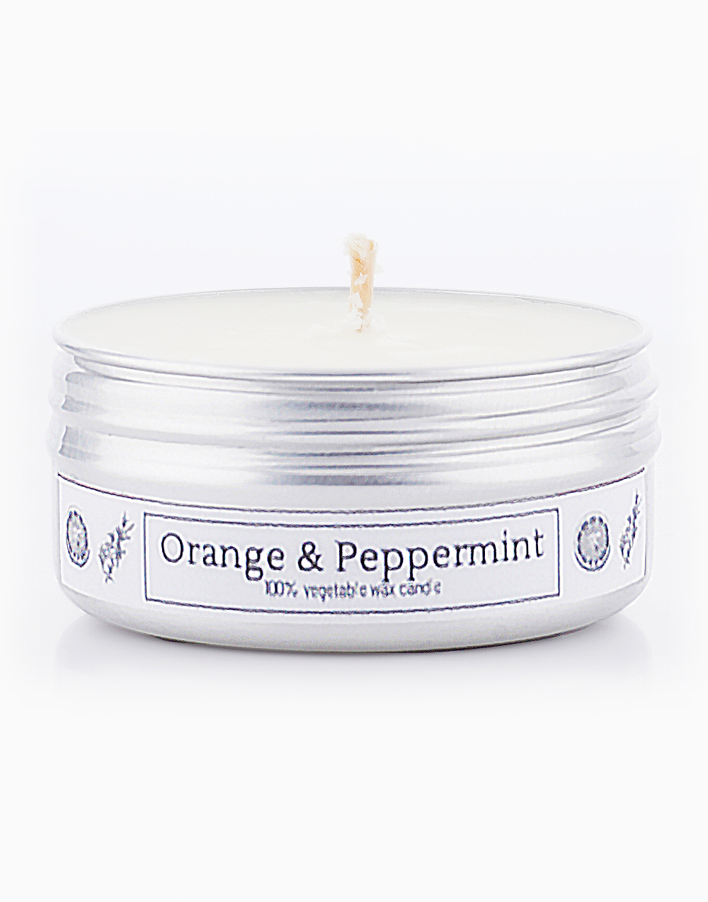 Orange & Peppermint Soy Candle (2oz) by Calyx Life & Home