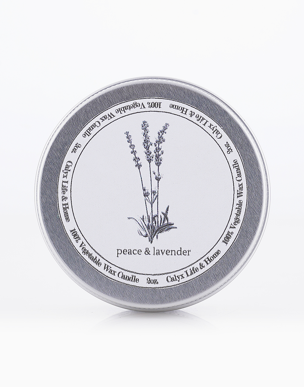 Peace & Lavender Soy Candle (2oz) by Calyx Life & Home