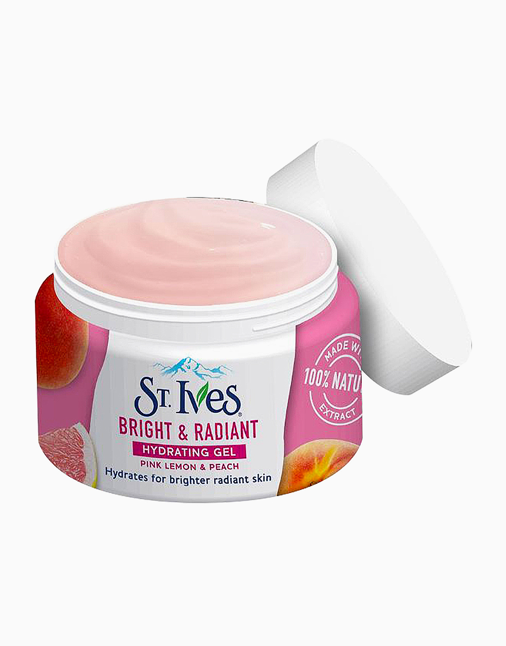 St. Ives Hydrating Gel Bright And Radiant Pink Lemon And Peach (45G) by Unilever Beauty