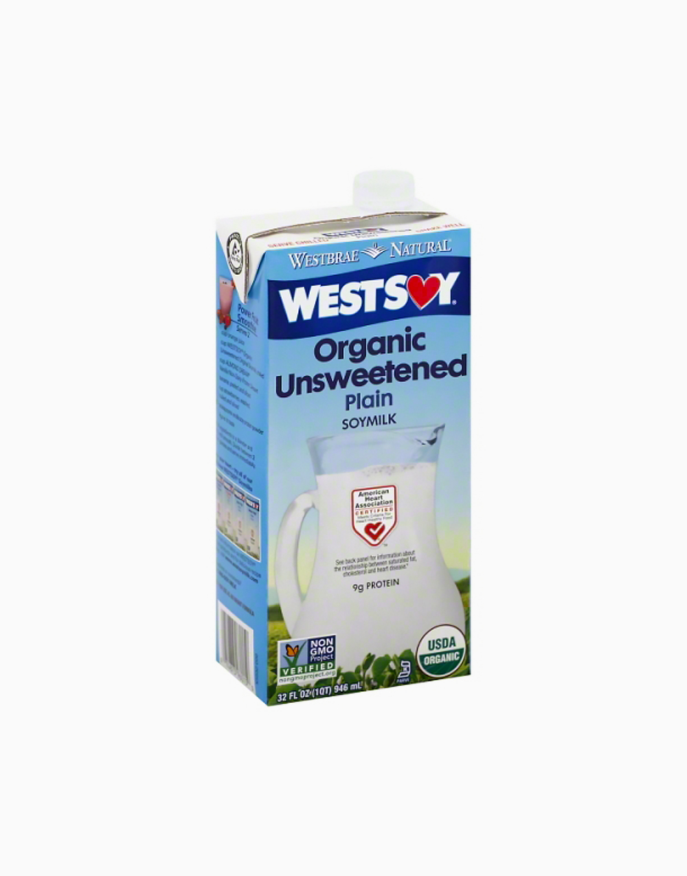 Organic Unsweetened Soy Milk (32oz) by Westsoy