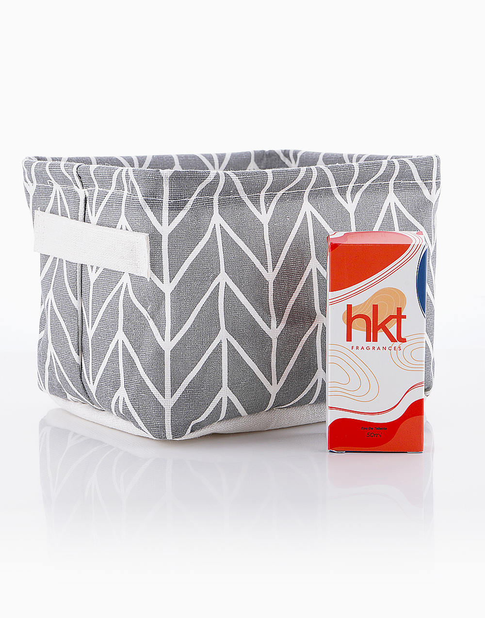 Perfume for Men in Cool Dude + Storage Organizer in Gray by HKT Fragrances