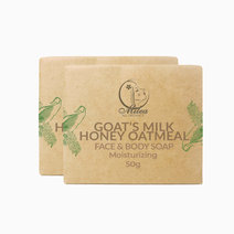 All organics goat's milk honey oatmeal soap %2850g%29 %282 pcs.%29