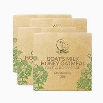 All organics goat's milk honey oatmeal soap %2825g%29 %284 pcs.%29