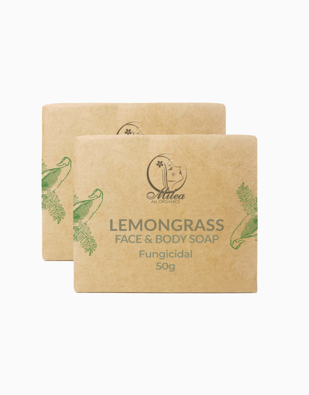 All Organics Lemongrass Soap (50g) (2 Pcs.) by Milea