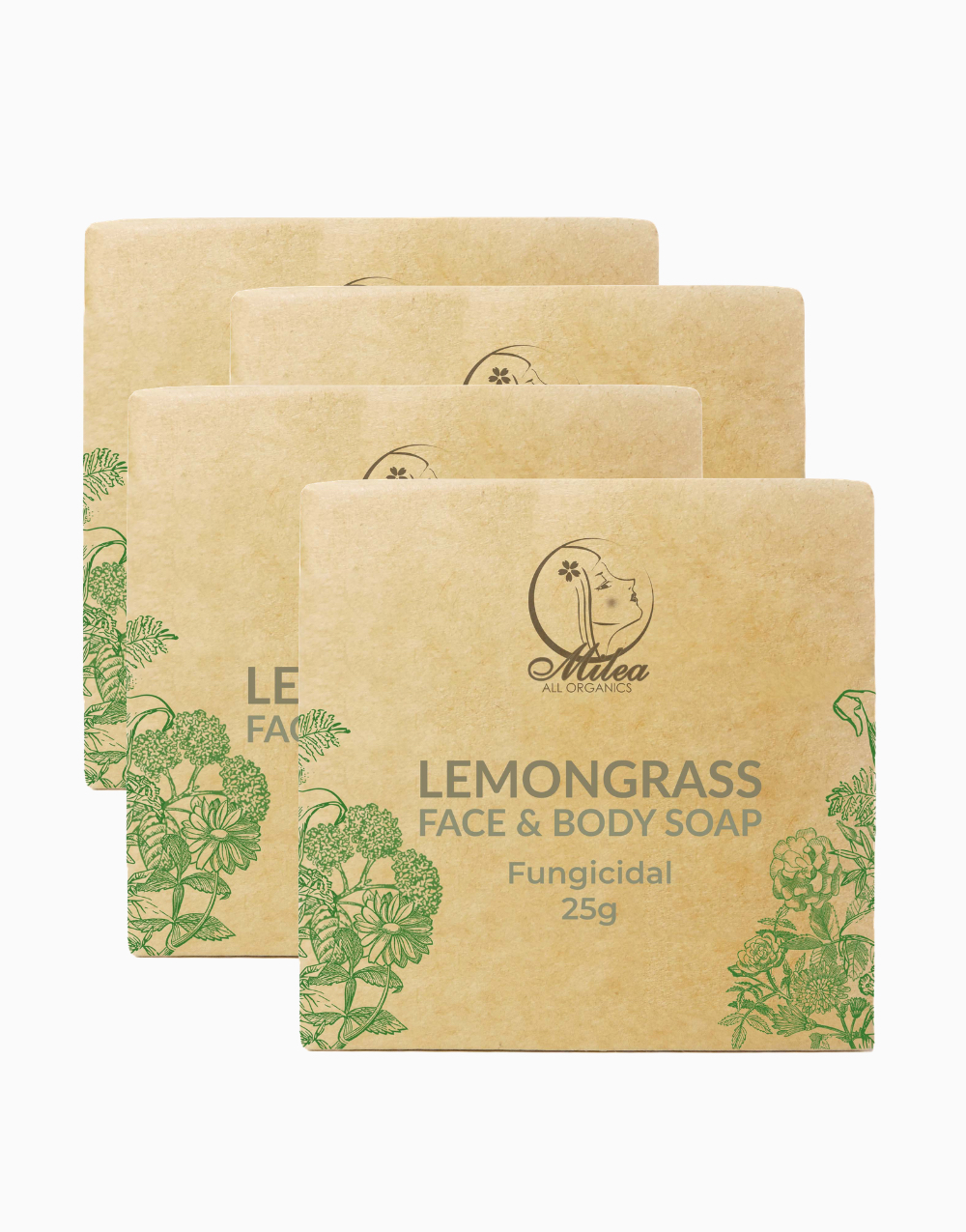 All Organics Lemongrass Soap (25g) (4 Pcs.) by Milea