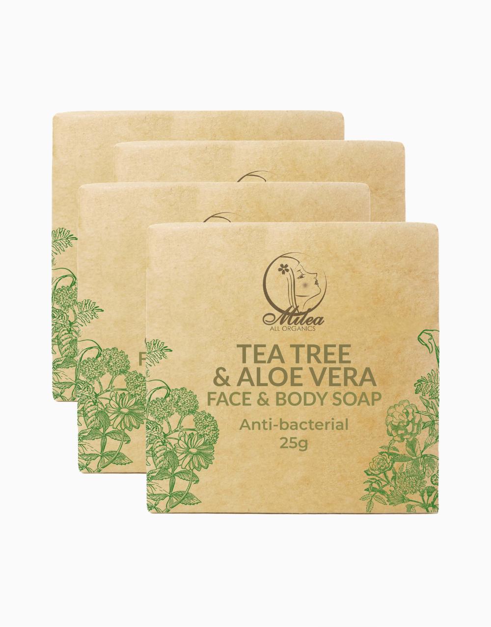 Tea Tree & Aloe Vera Soap (25g x 4 Pcs.) by Milea