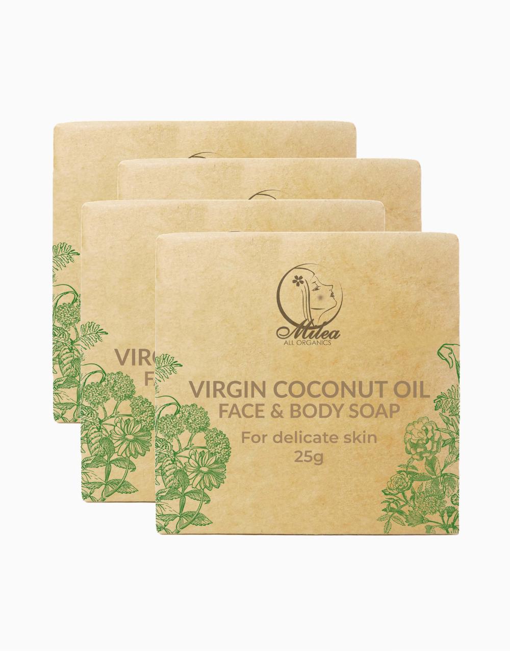 Virgin Coconut Oil with Coco Cream Soap (25g x 4 Pcs.) by Milea