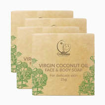 Virgin coconut oil with coco cream soap %2825g x 4 pcs.%29