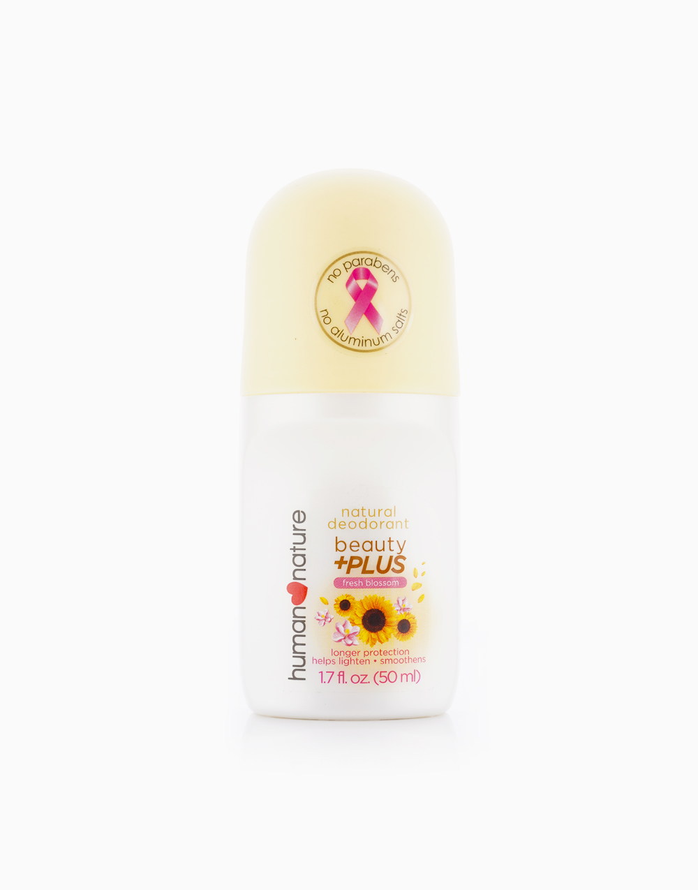 Natural Deodorant Beauty+ PLUS (50ml) by Human Nature | Fresh Blossom