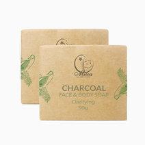 Charcoal soap %2850g x 2pcs%29