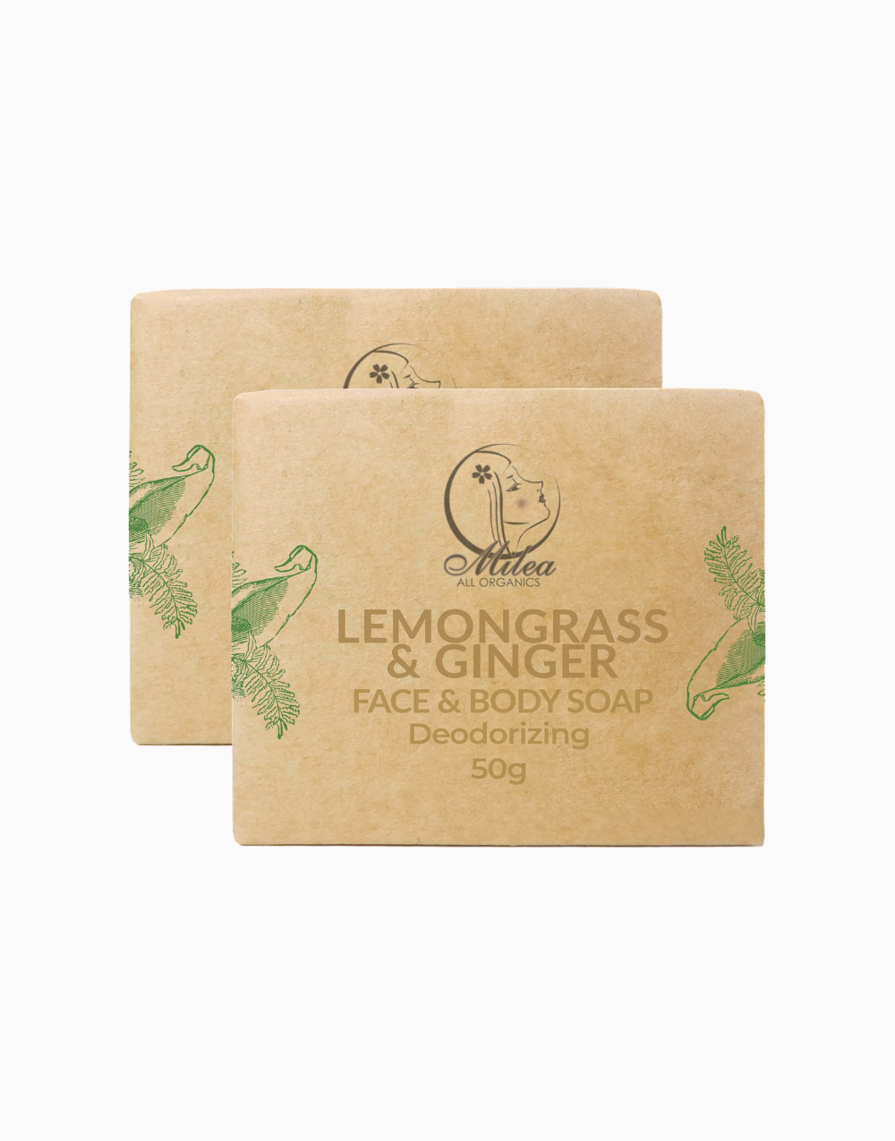 Lemongrass & Ginger Soap (50g x 2pcs) by Milea