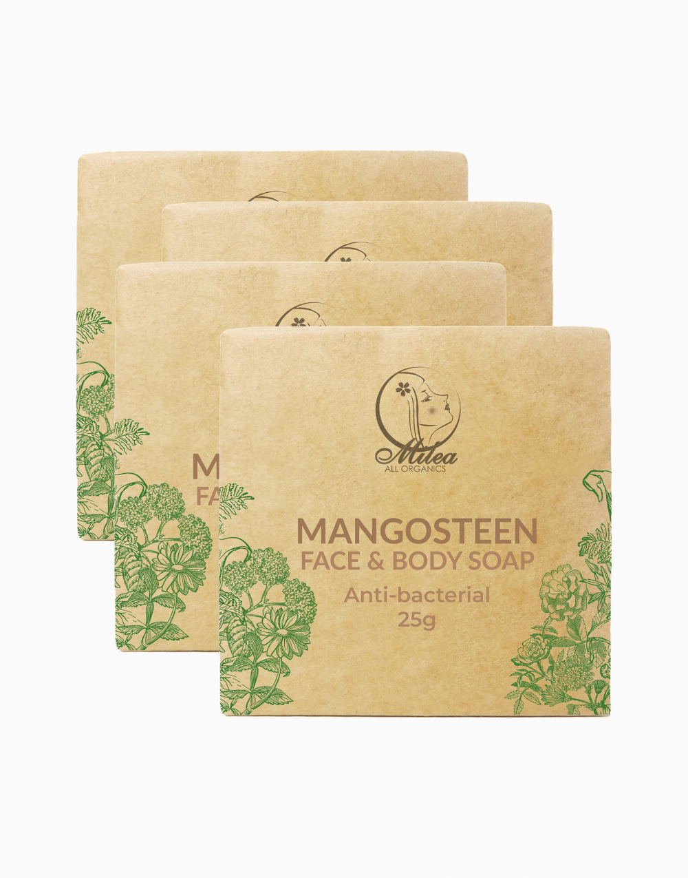 Mangosteen Soap (25g x 4pcs) by Milea