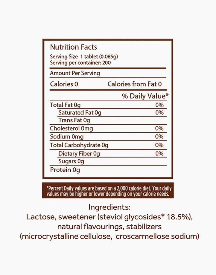 Naturals Stevia Zero Calorie Sweetener (200 Tablets) by Equal Philippines