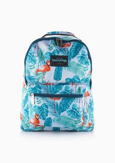Bonni Backpack Medium - Flamingo (Green) by Heartstrings
