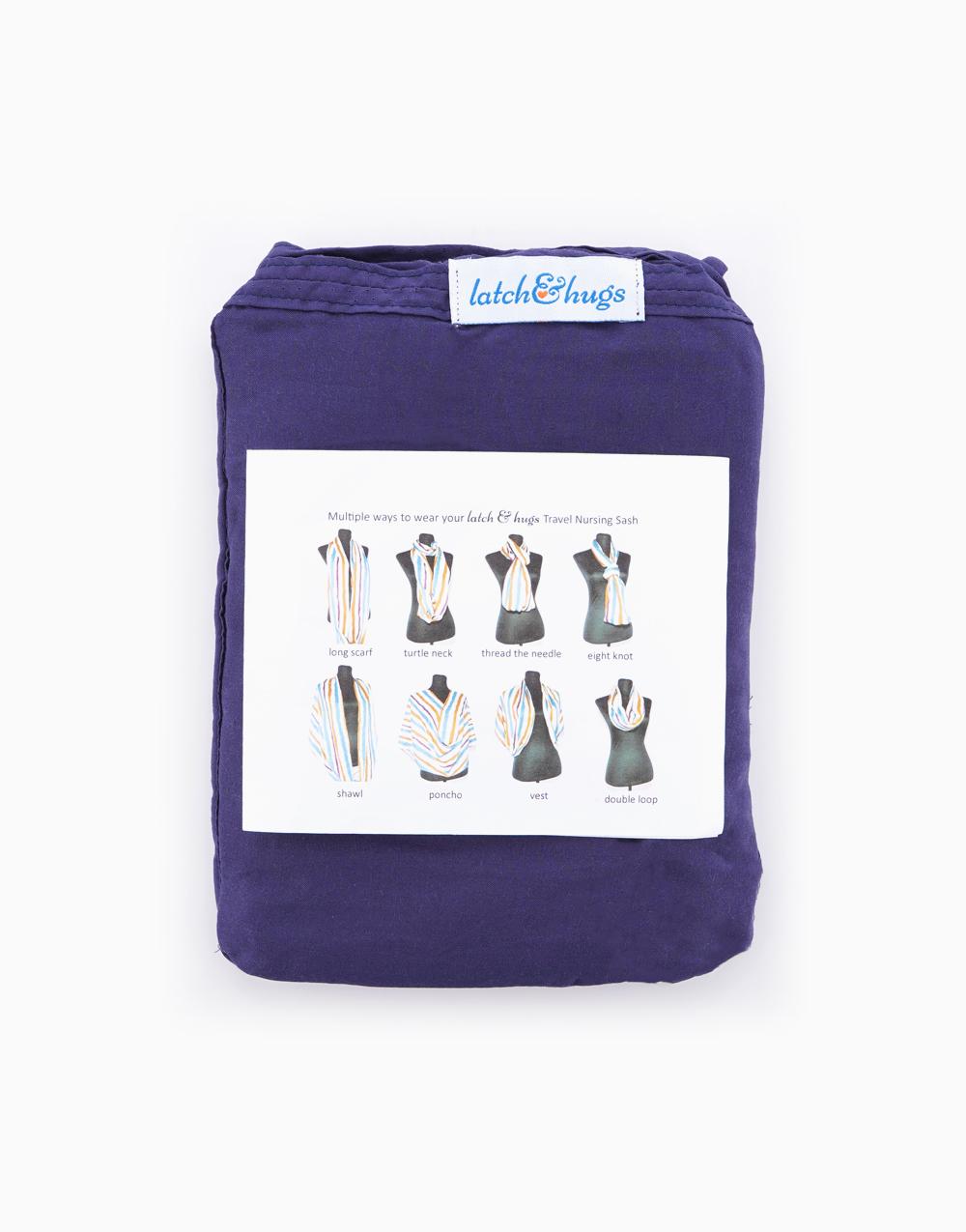 Latch & Hugs Nursing Sash (Bluish Gray) by Nanay At Ako