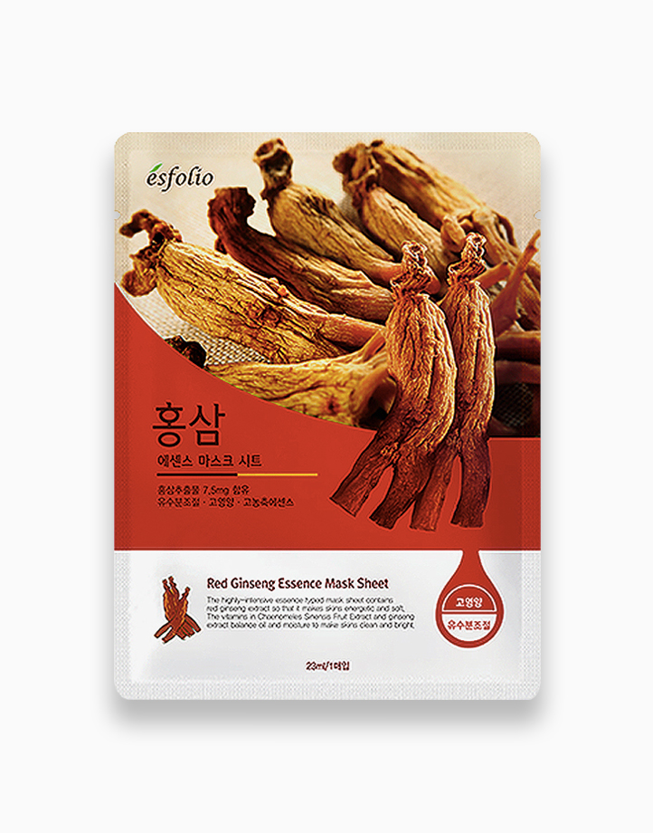Red Ginseng Essence Mask Sheet by Esfolio