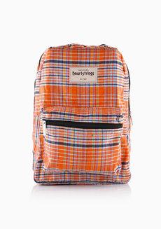 Heart Backpack Checkered (Orange) by Heartstrings