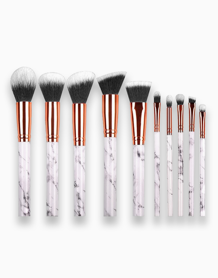 10-Piece Marble Brush Set by PRO STUDIO Beauty Exclusives