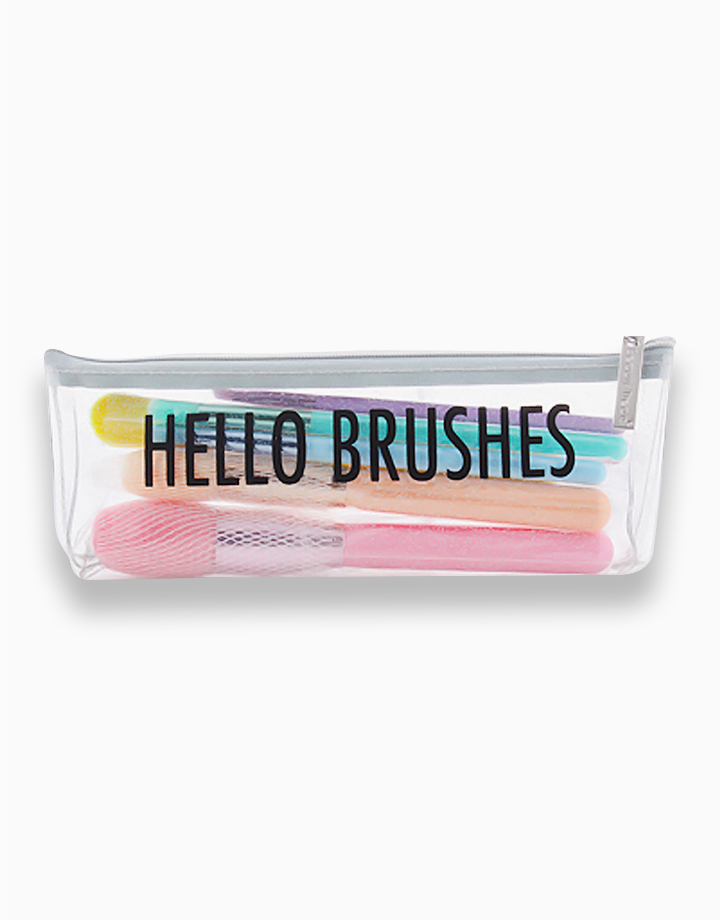 Hello Brushes! 7-Piece Makeup Brush Set with Pouch by PRO STUDIO Beauty Exclusives