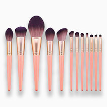 1 12 piece blush pink makeup brush set