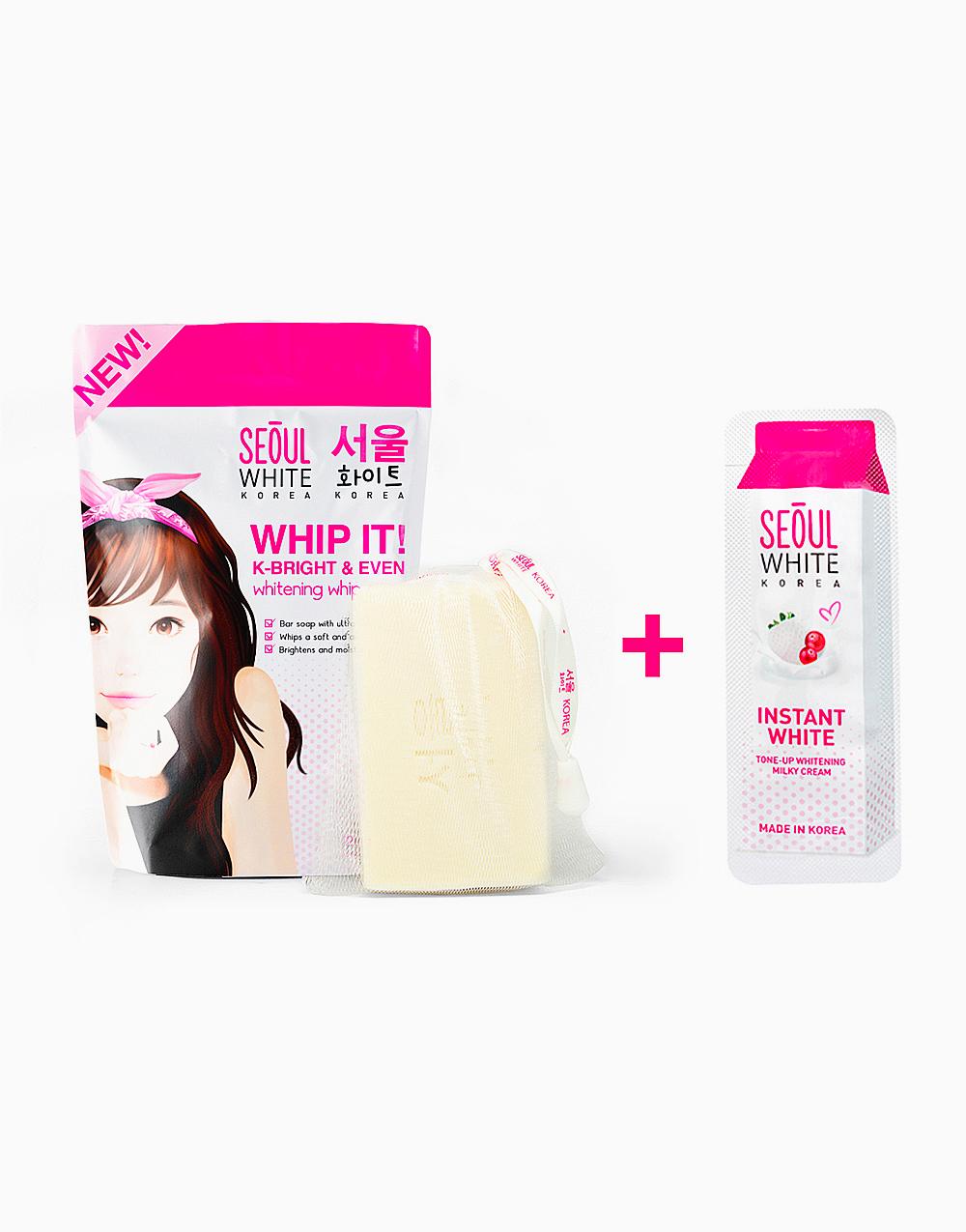 Whip It! Whip Soap + FREE Instant White Tone-Up Whitening Cream Sachet (3g) by Seoul White Korea