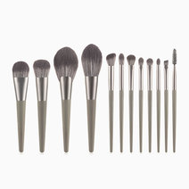 12-Piece Mousse Grey Makeup Brush Set by Brush Works
