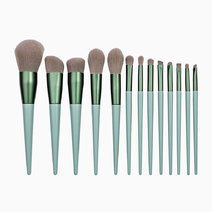 13-Piece Sage Green Makeup Brush Set by Brush Works