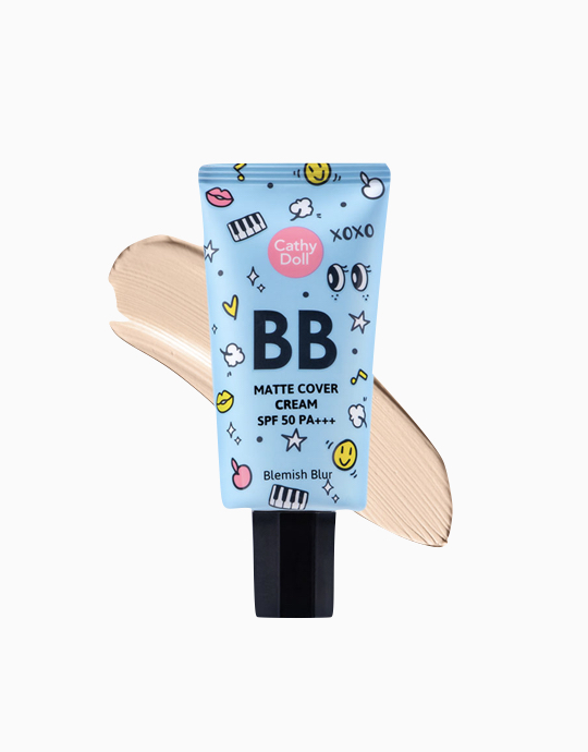Matte Cover Blemish Blur BB Cream SPF50 PA+++ by Cathy Doll | Light Beige