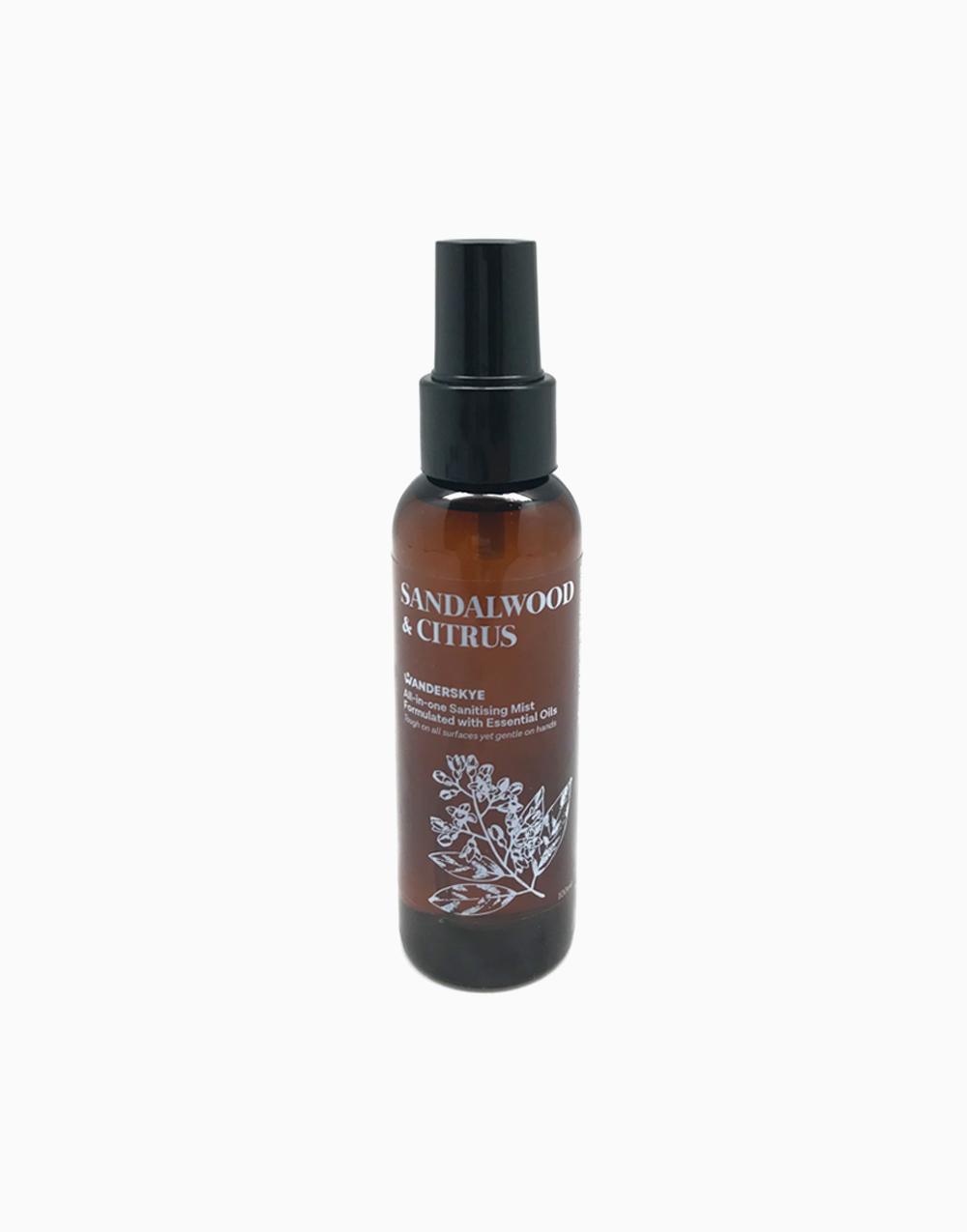 All-In-One Sanitizing Mist by Wanderskye   Sandalwood & Citrus