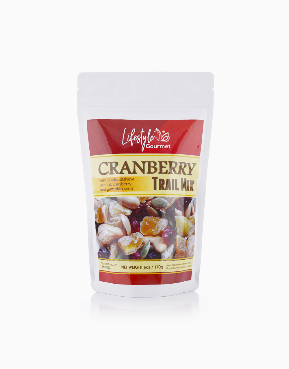 Cranberry Trail Mix (170g) by Lifestyle Gourmet