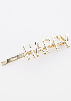 Happy Statement Gold Clip by Adorn by MV