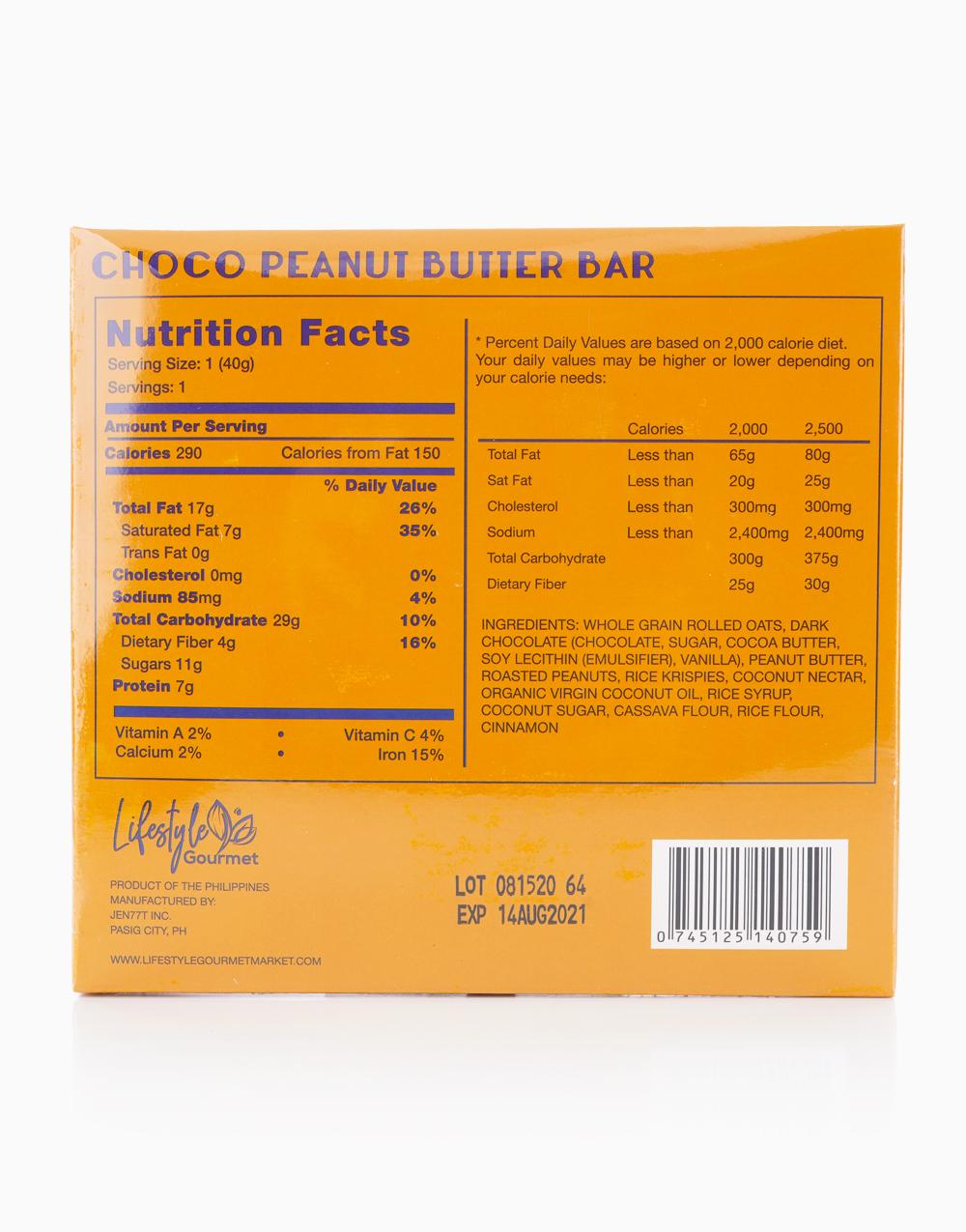 Choco Peanut Butter Bar (120g) by Lifestyle Gourmet