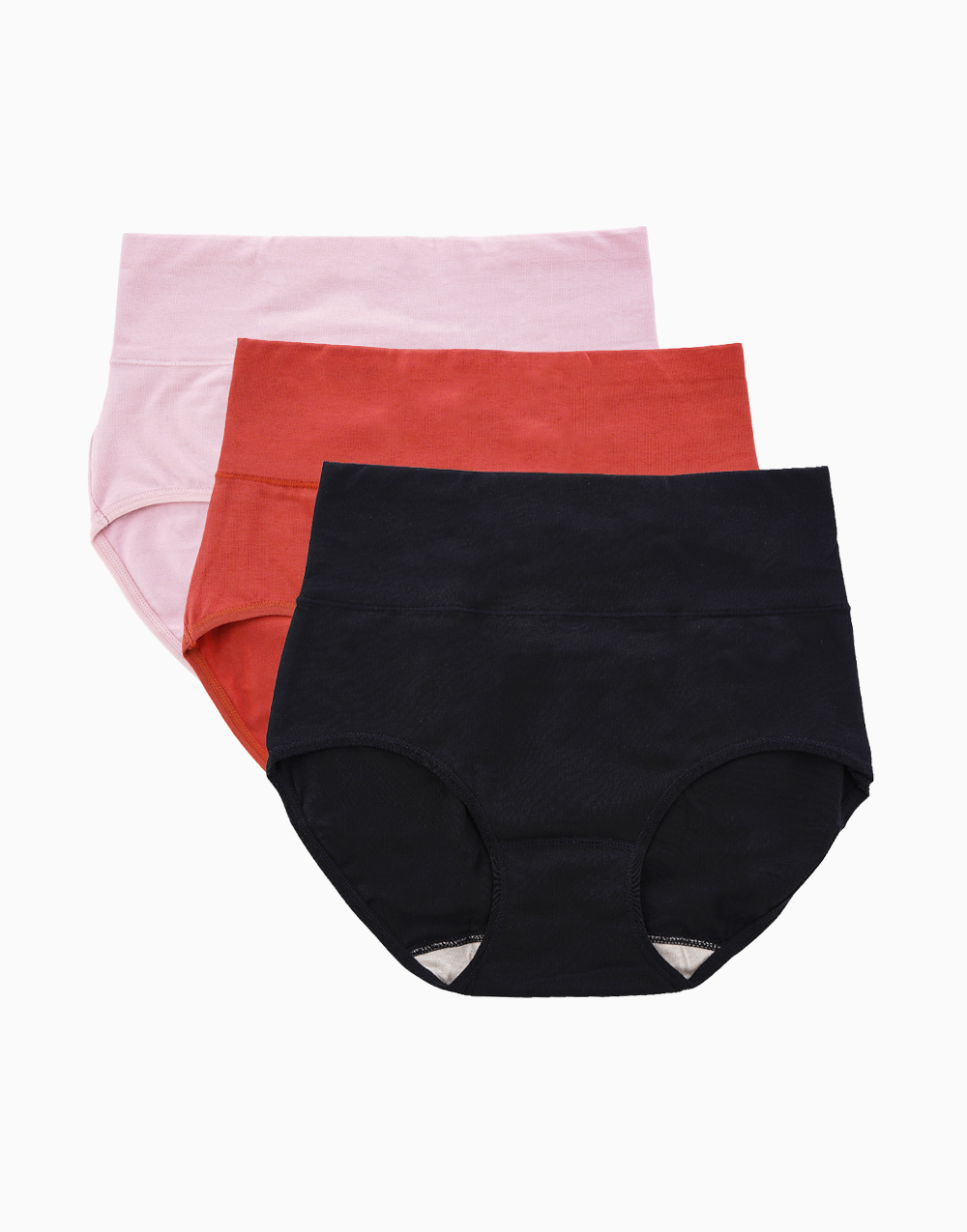 Belly Bikinis Mixed Color Set (Set of 3 High Rise Control Panties) by Jellyfit | Large