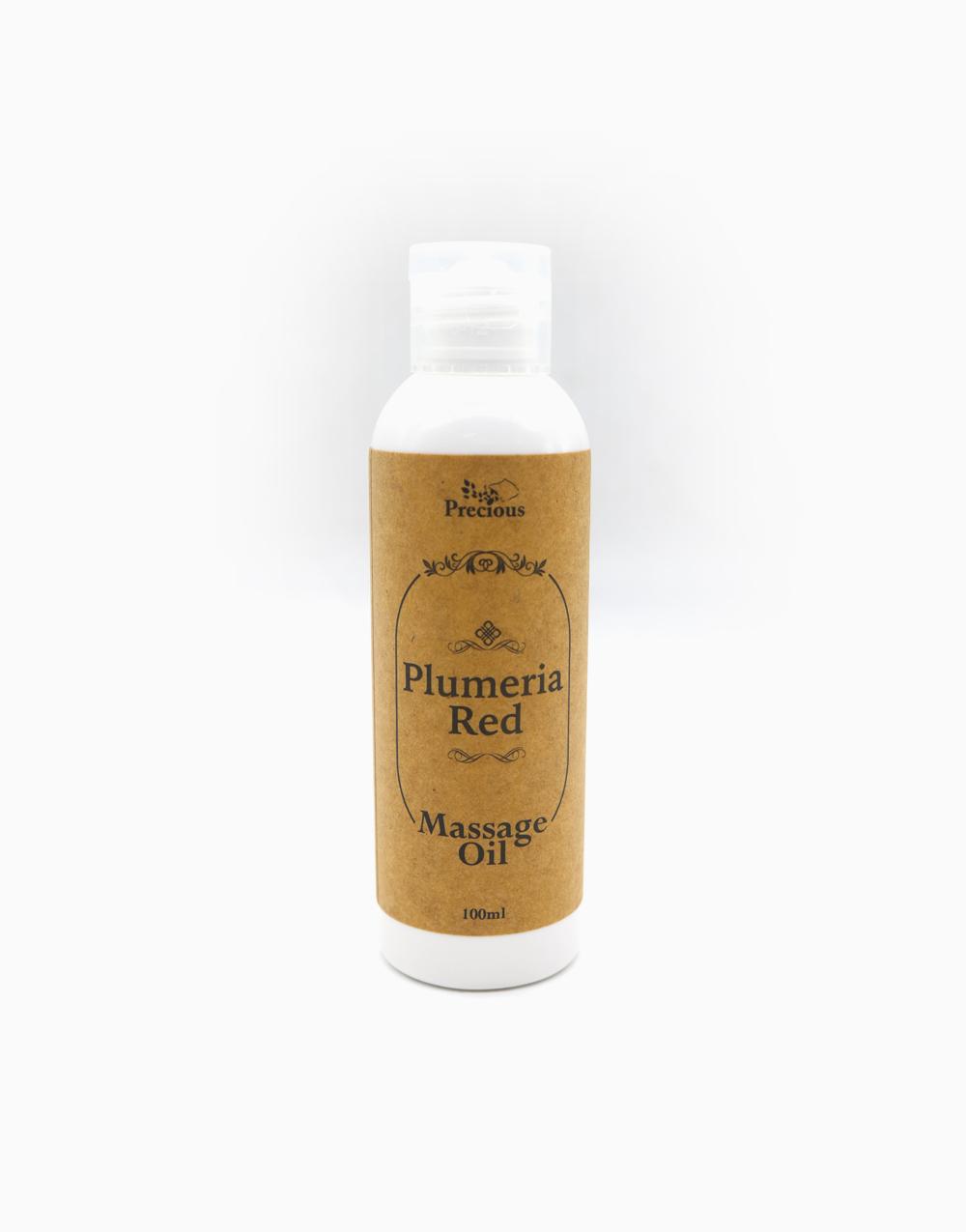 Precious Pad Massage Oil (100ml) by Precious Herbal Pillow   Plumeria Red
