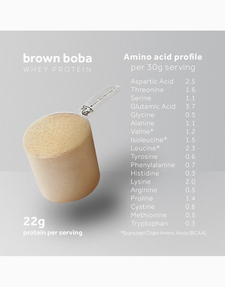 Just Brown Boba Whey Protein (454g) by Wheyl Nutrition Co.