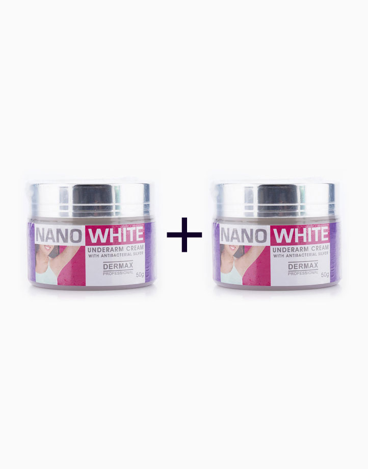 NanoWhite Underarm Cream with Antibacterial Silver (50g) (Buy 1, Take 1) by Dermax Professional
