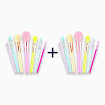 B1t1 pro studio beauty exclusives hello brushes! 7 piece makeup brush set with pouch